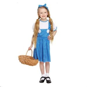 Age 10-12 Large GIRLS Childs Country Girl Dorothy Fancy Dress Costume